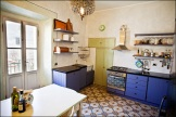Kitchen with French windows