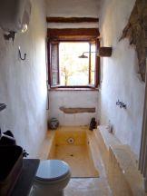 Bathroom with sunken bath