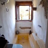 Bathroom with sunken bath